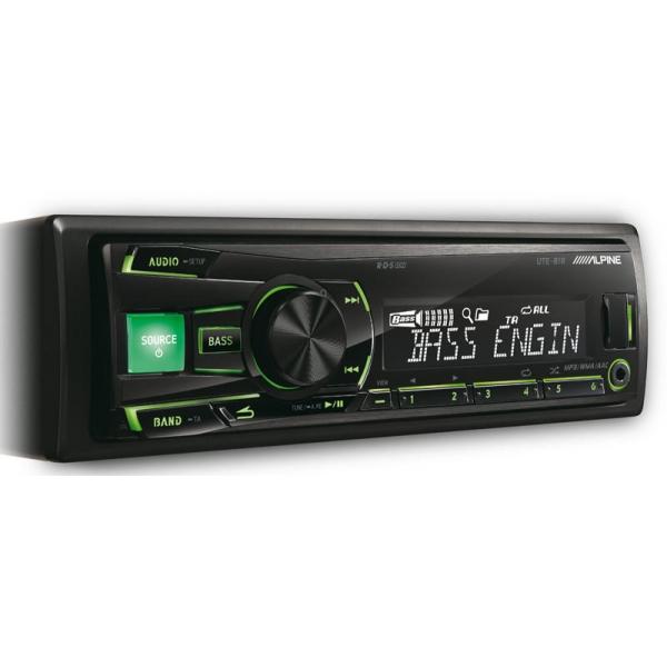 Alpine UTE-81R Rádió USB és iPod vezérléssel