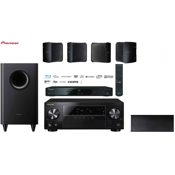 Pioneer HTP-072 5.1 + BDP-100 Blu-ray