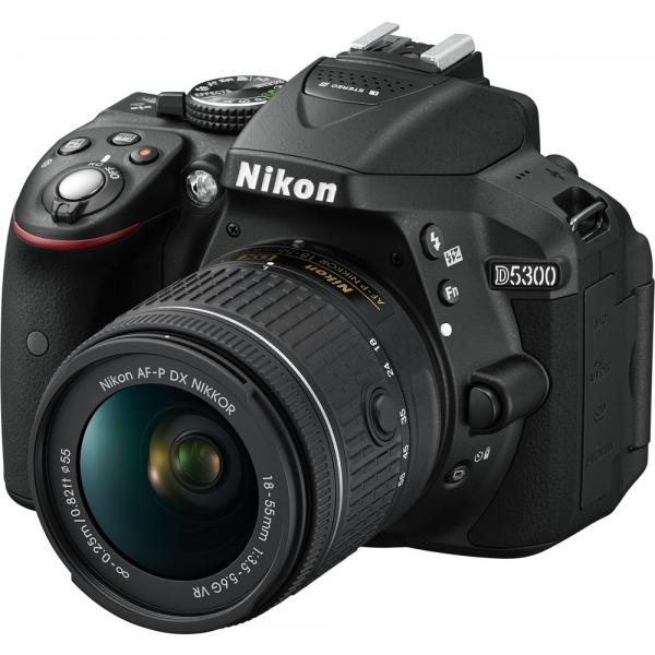 Nikon D5300 + 18-55mm AF-P VR Kit fekete
